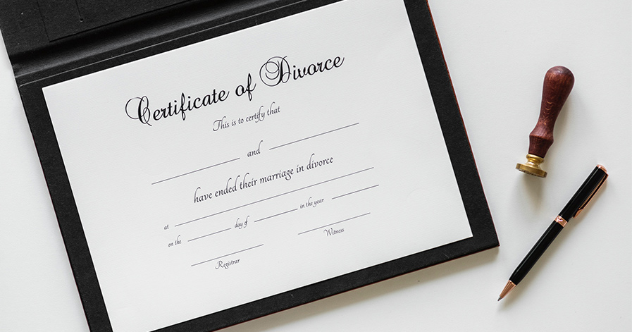 Divorce certificate