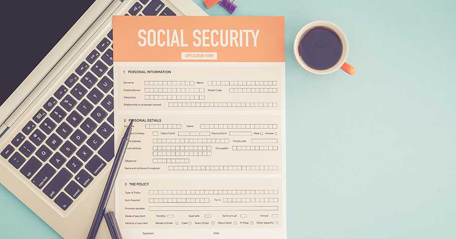 A social security disability benefit form