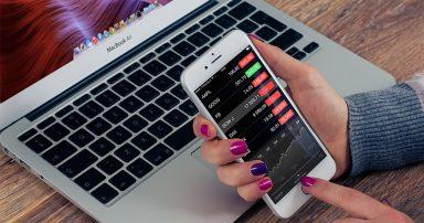 Stocks on a phone