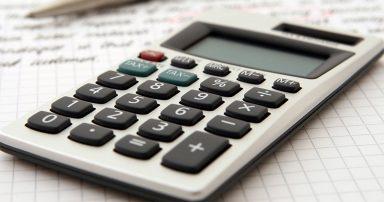 Calculator on a budget sheet