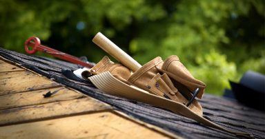 tools on a roof