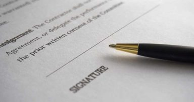 Paperwork that requires a signature