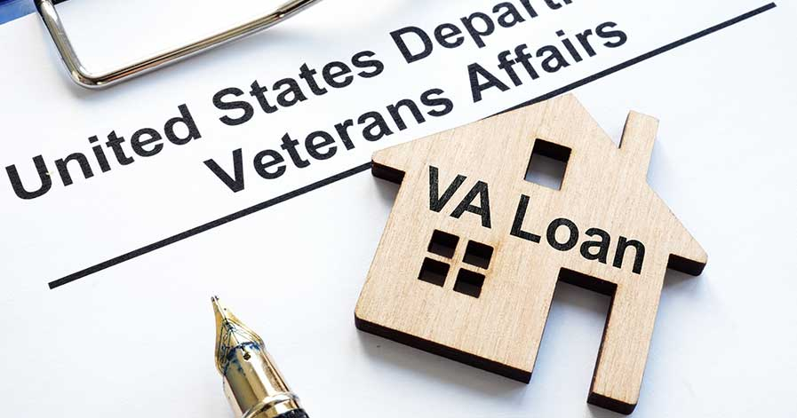 Paperwork for a VA loan