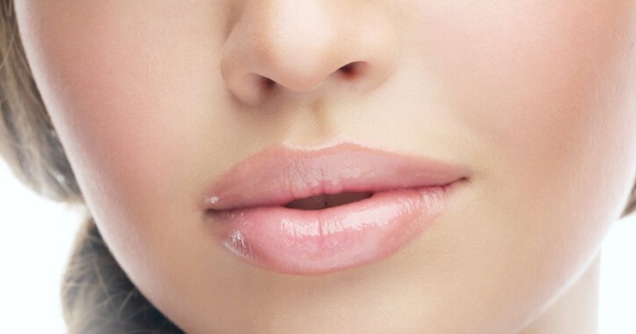 Botox injected lips.