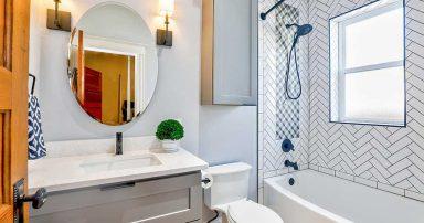 An interior view of a bathroom