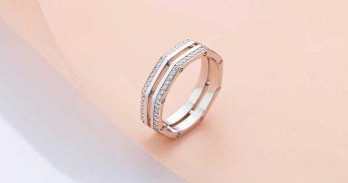 A diamond ring band.